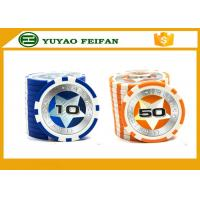 Wholesale New Plastic Game Poker Chips with laser star stickers from china suppliers