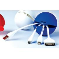 Wholesale Silicone Ball design 4 in 1 USB Cable data cable for smart phone  logo printing from china suppliers