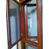 Wholesale Inward Opening Wood Transfer Aluminium Mesh Windows Hotel Coated Glass from china suppliers