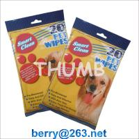 Wholesale 20pcs wet pet wipes from china suppliers
