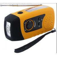 Wholesale Mini Solar Powered FM Radio with 3 bright white LED and USB Connectors from china suppliers