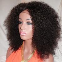 Wholesale Kinky Curly Human Natural Hair Silk Top Glueless Full Lace Human Hair Wig 24inch from china suppliers