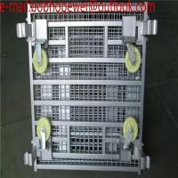 Wholesale Wire Mesh Bulk Container for warehouse foldable pallet cage/metal bin storage container/warehouse foldable pallet cage from china suppliers