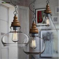 Wholesale Vintage Lamp Shades Industry Metal Pendant Lamps Chandelier Simple and Creative Glass Hanging Light Shade Edison Bulb from china suppliers
