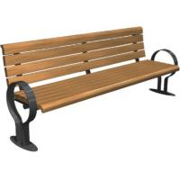 Wholesale Reasonable Design  Public Park Benches with different length, wood and metal material from china suppliers