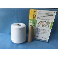 Wholesale Knotless Natural White Sewing Machine Thread 100% Polyester Yarn For Jeans / Shoes from china suppliers