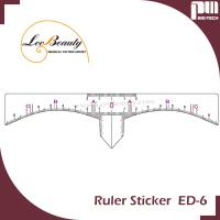Wholesale Accurate Permanent Makeup Eyebrow Shaping Tools Eyebrow Measurement Ruler Sticker from china suppliers