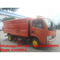 Wholesale Wholesale good price Dongfeng brand 4x2 LHD/RHD 6 tyres 3m3 road street cleaning truck for sale, road sweeper vehicle from china suppliers