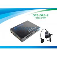 Wholesale SFP Dual Mode 2 Port Fiber Media Converter 256K 10 / 100 / 1000M , External PS from china suppliers