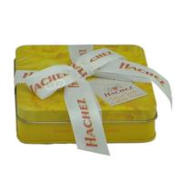 Wholesale Custom rectangular candy tin box  chocolate gift boxes with ribbon from china suppliers