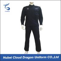 Wholesale Customized Spring Autumn Security Guard Dress Uniform For Middle East , Black Color from china suppliers