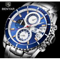 China BENYAR Men Chronograph Date Sports Stainless Steel Quartz Watch BY-5127M for sale