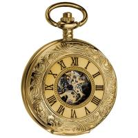 Wholesale Antique Gold Pocket Watches / mechanical pocket watch for Adult , Mechanical Movement from china suppliers