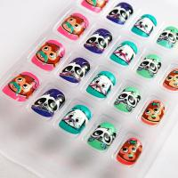 Wholesale Animal Pattern Kids Fake Nails Colorful 3D False Nails For decoration from china suppliers