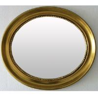 Wholesale classical oval wooden framed bathroom mirror,cosmetic mirror from china suppliers
