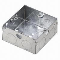 Quality 1-gang 200mm/25mm Steel Square Outlet Box, Made of Steel Galvanized, OEM and ODM for sale