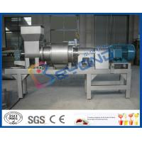Wholesale Single Stage Fruit Pulping Machine , Fruit Processing Orange Juice Squeezer Machine from china suppliers