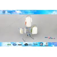 Wholesale Folding Steel Indoor Outdoor Clothes Drying Rack Wing Style for Balcony / Living Room from china suppliers