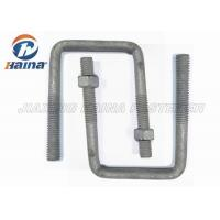 Wholesale OEM Steel MS Gr4.8 High Tensile Custom Fasteners Gr8.8 Square Bend U Shaped Bolts M16 Diameter from china suppliers