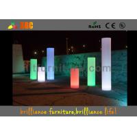 Wholesale LED luminous decorative round / LED Pillar With lithium battery from china suppliers