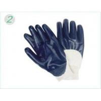 China Customized Industrial Safety Heavy Duty Blue Nitrile Coated Protective Hand Gloves on sale