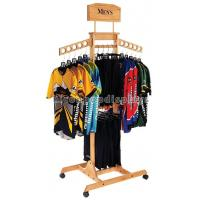 Wholesale T Shirt Wood Clothing Store Fixtures Retail Display Shelves With Casters from china suppliers