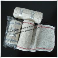 Wholesale Surgical Elastic Crepe Bandage Bleached / Natural With Line Comfortable To The Skin from china suppliers