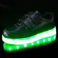 Wholesale 450mAh Lithium Battery Chargeable Flat LED Shoes for Children from china suppliers