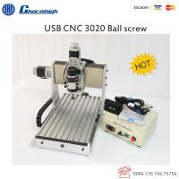 Wholesale 3 Axis Laptop USB CNC 3020 Router , Ball Screw CNC Router Engraving  Machine from china suppliers