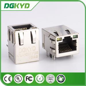 Wholesale KRJ - H001YGENL single port RJ45 Magnetics , Side Entry rj45 8p8c connectors from china suppliers