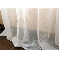 Wholesale Upholstery White Sheer Curtain Fabric / Extra Wide Polyester Voile Fabric from china suppliers