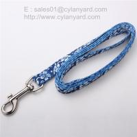 Wholesale 6ft sublimation dog leash, full color print polyester dog leads, from china suppliers