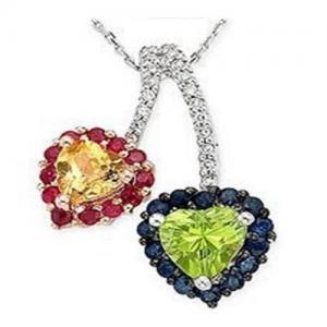 Wholesale Sapphire & Ruby & Citrine & Peridot & Diamond Pendant from china suppliers