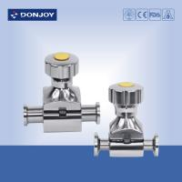 Buy cheap SS 316L Full Port Mini type Clamped  diaphragm valve with Steel hand wheel from wholesalers