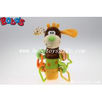 Wholesale Colorful Plush Funny Dog Infant Toy Baby Stick Educational Toys With Plactic Accessory from china suppliers