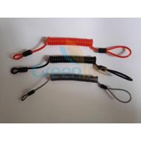 Wholesale Flexible plastic customized size coil tether w/mini loop on two ends simple tool wire lanyards from china suppliers