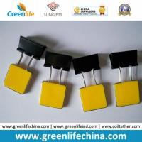 Wholesale Yellow Square Plastic Handle Metal Binder Paper Clip Office Using from china suppliers