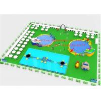 Quality Steel Frame Pool Inflatable Water Park / Inflatable Theme Park For Playground for sale