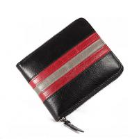 Wholesale three tones men zipper billfold in cow leather leisure style from china suppliers