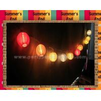 Wholesale Outdoor Paper Lantern String Lights Home Decoration , colored lantern string lights from china suppliers