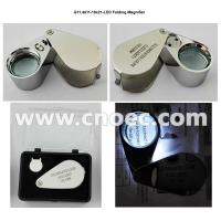 Wholesale 10x21mm LED Metal Folding Magnifier Jewelry Microscope G11.4511-10x21-LED from china suppliers
