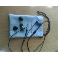 Wholesale 8x12cm Soft Blue Earphone Carrying Case Silk Screen For Ipod Nano from china suppliers