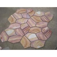 Wholesale Yellow Wood Sandstone Flagstone Patio Natural Sandstone Pavers Meshed Flagstone Wall Cladding from china suppliers