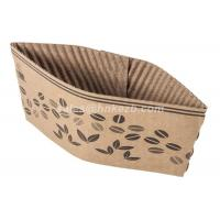 Quality Brown Corrugated Custom Coffee Cup Sleeves Recyclable For Hot Coffee for sale