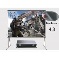 "Wholesale 300"" Diagonal  Quick Install Rear Projection Screens With Transport Case from china suppliers"