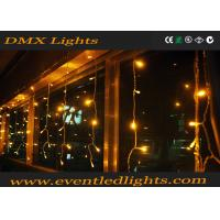 Wholesale Yellow Led Waterfall Curtain Lights Battery Operated 110V - 240V from china suppliers