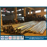 Quality NEA Standard Conical Hot Dip Galvanized Steel Power Transmission Poles 10 KV to 220 KV for sale