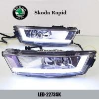 Wholesale Skoda Rapid DRL LED Daytime Running Light turn light steering for car from china suppliers