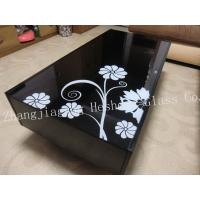 Wholesale 10MM black with flower tempered glass from china suppliers