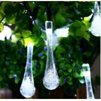 Quality Solar Tear Drop Solar String Fairy Waterproof Lights garden decoration party festival use for sale